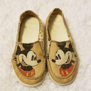 Disney Canvas Melbourne Mickey Mouse Crocs Size 6